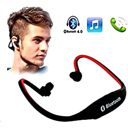 GKP Products ® Outdoor Sport Mp3 Player Wireless Headset Headphones Support Micro Sd/Tf Card + Fm Radio Mp3 Players Earphone For Camp Without Bluetooth,Multicolor Model 410024