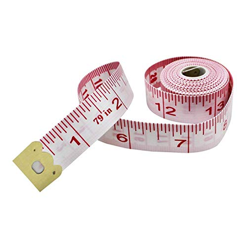 Generic New Portable 79inch/200cm Body Measuring Ruler Sewing Cloth Tailor Tape Measure Soft Flat Double-Sided Soft Tape Measure Rule