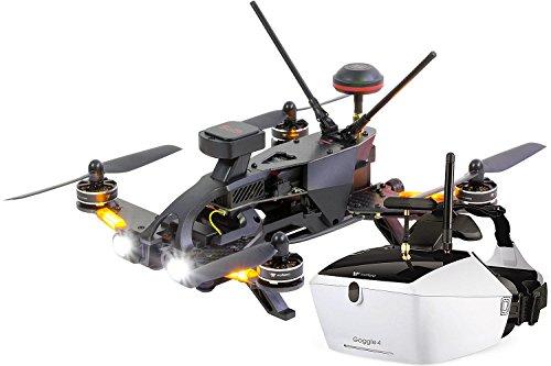 Walkera 15004650Runner 250Pro Racing Quadricottero RTF–FPV con videocamera HD, occhiali video V4, GPS, OSD, Batteria, Caricabatterie e telecomando Devo 7