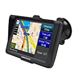 GPS Navi Navigation für Auto LKW PKW Navi 7 Zoll Sonnenschutz Navigationsgerät mit Bluetooth POI Sprachführung Fahrspurassistent Europa Maps Lebenslang Kartenupdates