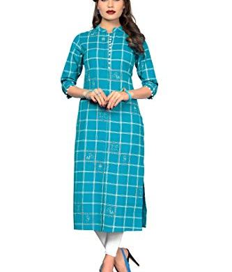 Vbuyz Women's Cotton Straight Kurti 8