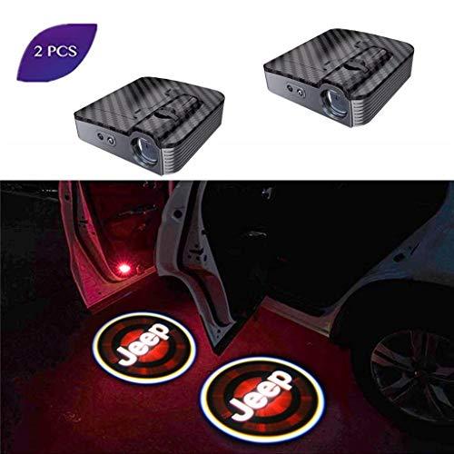 LED benvenuto illuminazione,2 PCS Wireless Universale Proiettore LED Porta Fantasma Luce Ombra Luce...