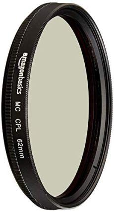AmazonBasics - Filtro polarizador circular - 62mm