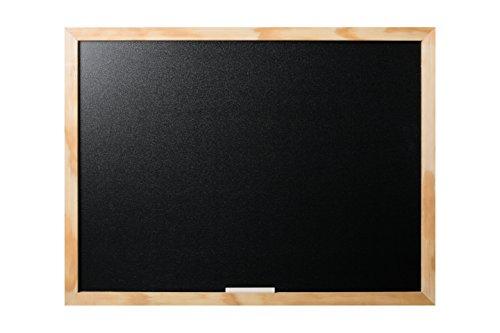 Bi-Office Lavagna Nera Per Gesso Optimum, Cornice di Pino, 60 x 45 cm