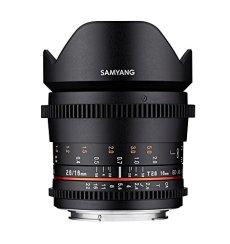 Samyang SA1320 - Objetivo para vídeo VDSLR 16 mm T2.6 ED AS UMC II para Sony E (Enfoque Manual, UMC Anti-Reflectante) Negro - con Parasol extraíble