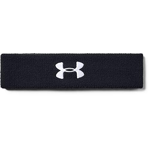 Under Armour UA Performance Headband, Fascia Uomo, Nero (Black/White), Taglia unica