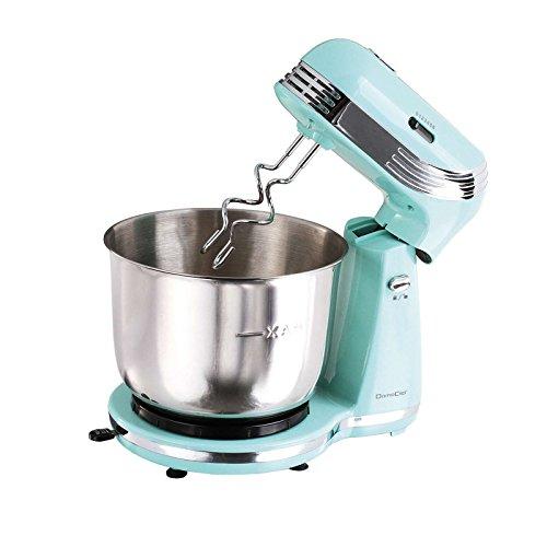 Robot da cucina in stile retrò con ciotola in acciaio inox da 3 litri (impastatrice, 2500 Watt, 6...