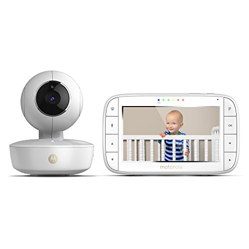Motorola Baby 5-Inch Color Screen Portable Video Baby Monitor, Rechargeable Camera with Remote Pan, Tilt, and Zoom, 2-Way Audio, and Room Temperature Display with Star Grip Support
