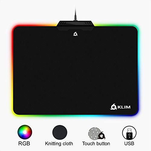 KLIM Mousepad RGB Chroma – Effetti Luce – modalità Multiple – per Gaming Gamer – Tappetino...