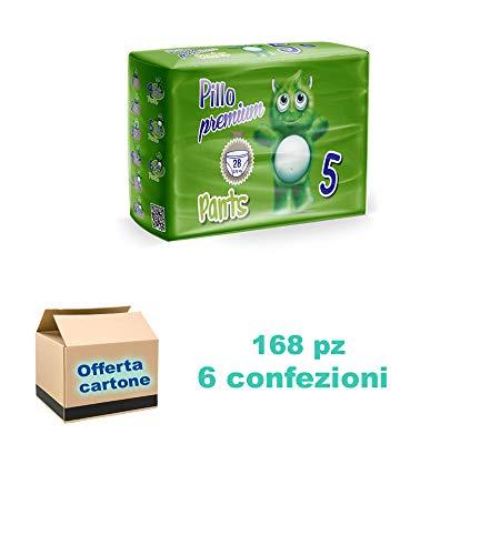 Pillo Premium PANTS Pannolini mutandina 12/18kg 6 cf di 28pz/cad, 168 pannolini