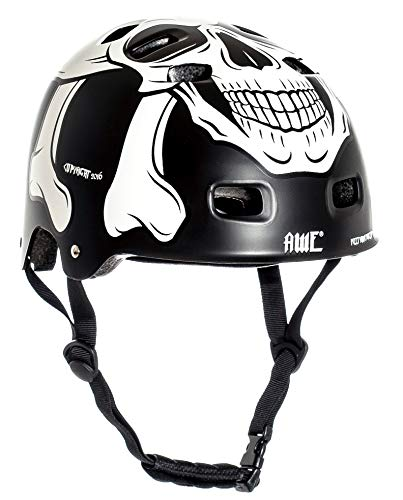 AWE MEET YOUR MAKER BMX Casco nero 55-58cm SOSTITUZIONE DI CRASH GRATIS 5 ANNI *
