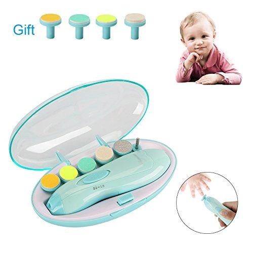 Elektrisches Baby Nagelfeile Nagelknipser set Baby Maniküre & Pediküre Set 10in1 Baby-Nagelfeile mit LED- Licht für Babys, Kleinkind, Erwachsene, Sichere und Leise Baby Nagelpflege Aufsätze Set