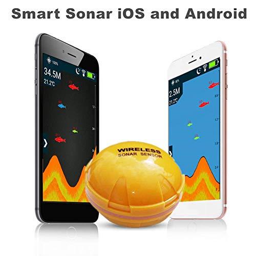 ALDD Ecoscandaglio per Cellulare Sonar Wireless Fish Finder profondità Sea Lake Fish Detect iOS App Android Trova Fish ecoscandaglio ecoscandaglio, y3