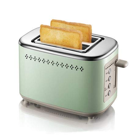 FANLX Creativo Green Home Breakfast Machine Sandwich Toaster Metallo Corpo in Acciaio Inox...