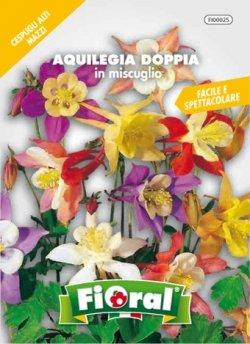 Sementi da fiore di qualità in bustina per uso amatoriale (AQUILEGIA DOPPIA IN MISCUGLIO)