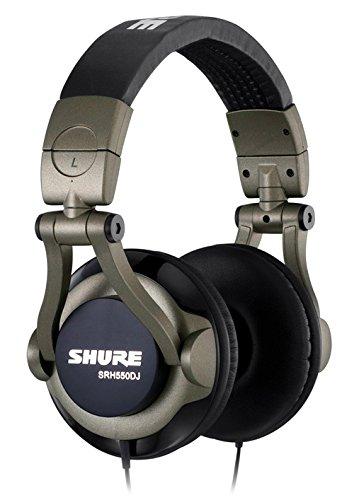 Shure SRH550DJ Cuffie DJ di Qualità Professionali, Nero/Grigio