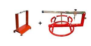 WBYC RicambiWeiss Auswuchtgerät + Reifenmontage Set Auswuchtgerät Wuchtbock Reifenmontiergerät Motorrad 8