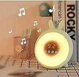 HJJK Multifunktionale kreative Wecker auf Rädern |für Erwachsene und Kinder, die mit LED-Anzeige und bunten Beleuchtung Wecker Runde USB-Netzteil passend for Teen Schlaf- / Wohnzimmer/Studie