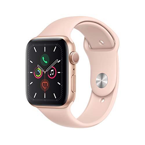 Apple Watch Series 5 (GPS, 44mm) Cassa in Alluminio, Oro de Cinturino Sport Rosa Sabbia