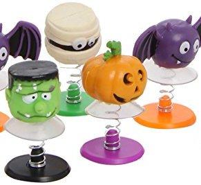8 saltando juguetes - Halloween - Frankenstein, momia, murciélagos, calabaza