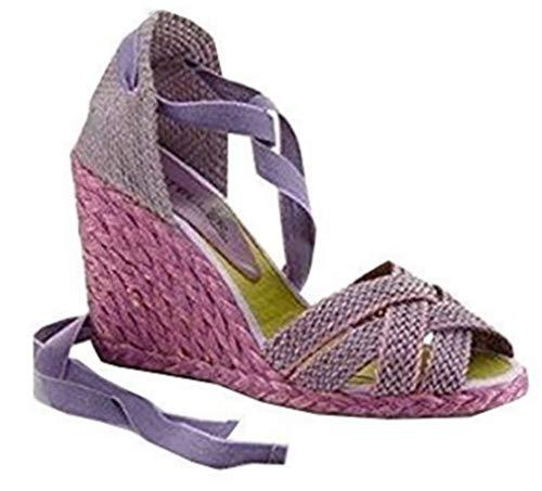 CASTELLER Sandalette, Scarpe col tacco donna, Viola (lilla), 41