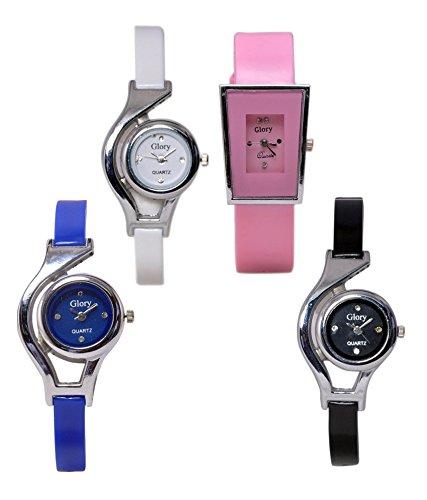 krupa enterprise Glory Multi-colour Latest (Fancy) Analog Watch for Women - Pack of 4