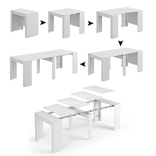 Tavolo Allungabile Consolle Clarissa, Design Elegante Moderno, Consolle Casa Ufficio, Tavolo 10...