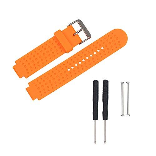 Jiamins silicone sostituzione cinturino Band per Garmin Forerunner 230/235/630/735GPS orologio,...