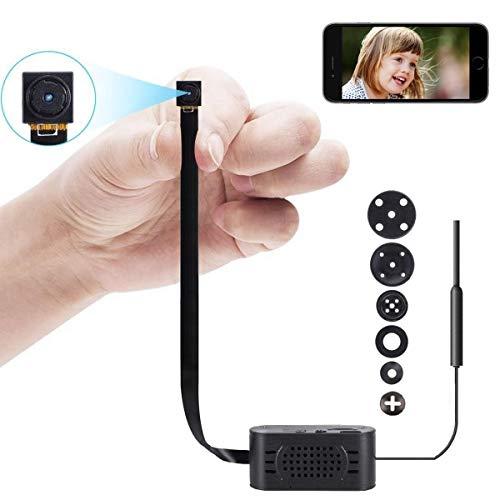 Mini Kamera Kleine HD Wireless Überwachungskameras Tragbare WLAN WiFi Netzwerk knopfkamera IP Videorecorder mit Bewegungsmelder
