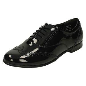 Senior Girls Angry Angels by Startrite Brogue Style School Shoes Matilda – Black Patent – UK Size 8W – EU Size 42 – US Size 9 41i0O 2B1COgL