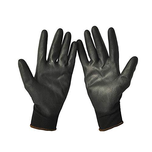 2 paia guanti da lavoro rivestimento in PU guanto protettivo resistente all'usura e traspirante del...