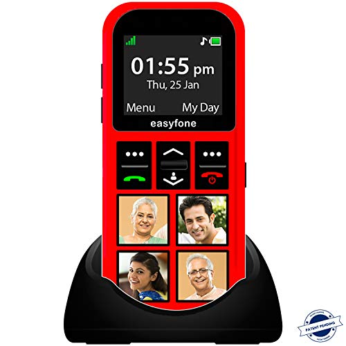 Senior World Star Phone with GPS - India's First Kids Phone. Specially Designed to Help Your Child be More Safe Red