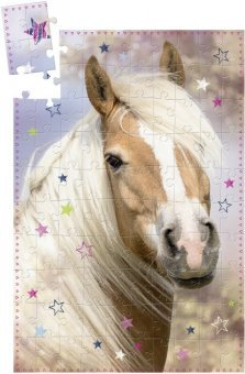 Scatola Puzzle 'Gli amici dei Cavalli' (100 Pezzi)