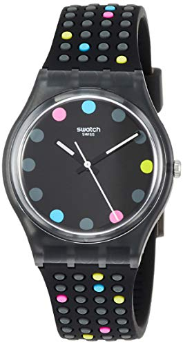Swatch Damen Analog Quarz Uhr mit Silikon Armband GB305
