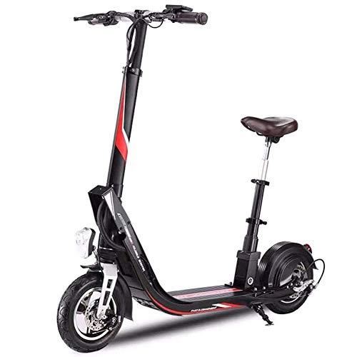 ZDDOZXC Scooter elettrico, scooter elettrico pieghevole, motore brushless da 400 W, pneumatici...