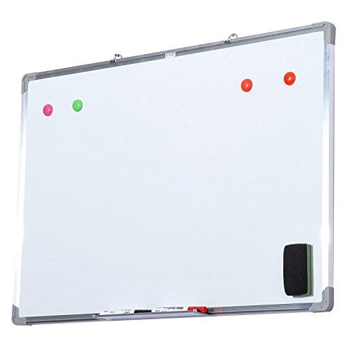 HOMCOM lavagna magnetica da parete con cornice in alluminio, con pennarelli, cancellino e magneti...