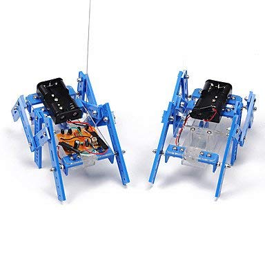 Crab Kingdom DIY Science and Technology Piccolo Produzione Teaching Materiale Hexapod Robot Modello Assemblare Parent-Child Handmade Toy (edizione normale)
