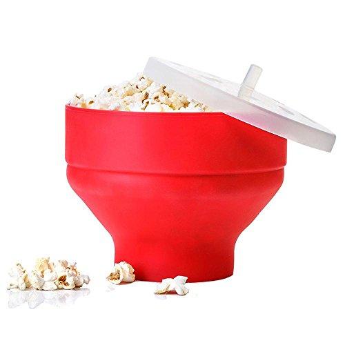 Microondas palomitas de maíz de pop de maíz cuenco de cubo con tapa cocina herramientas de hornear