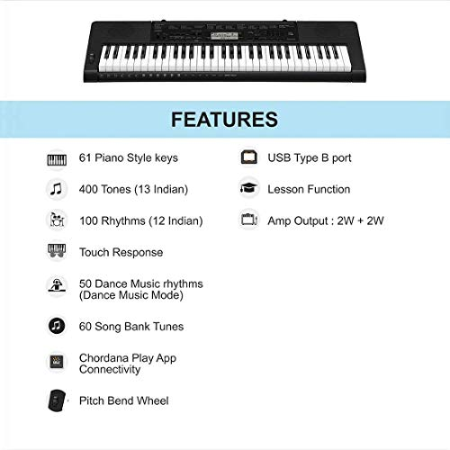 Casio CTK-3500 61-Key Portable Keyboard, Black 5