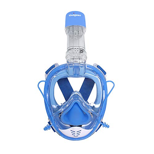 Unigear Maschera da Snorkeling, Maschera Subacqueacon Apertura a 180 ° Ampia visibilità Anti-Perdita Anti-Appannamento per Donna e Uomo