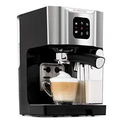 Klarstein BellaVita - Macchina da Caffè, Funzione 3 in 1 per Espresso, Cappuccino e Latte...