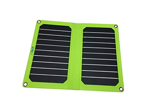 IFITech® 11W Solar Semi Flexible Portable USB Outdoor Charger for iPhone, Samsung, HTC, Nexus Smartphone, Gopro Camera, GPS and Tablets - White
