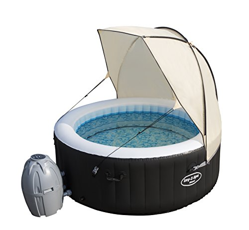 Sometimes it gets too hot bathing under the sun and in other times the wind can be stubborn. Lay-Z-Spa thought of these problems and came up with the Lay-Z-Spa Canopy Hot Tub. It's what it says, a canopy to provide a shield from the elements. Suitable for all Lay-Z-Spa models, the canopy couldn't be easier to set up than erecting its tent poles and clipping it to your spa. Two guy ropes are included to keep the canopy even more safe and secure.