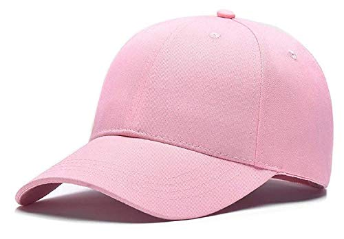 BUYBACK® Cool Unisex Cotton Embroidery Caps Hats Sports Tennis Baseball Cap(Pink-cd-Plain)