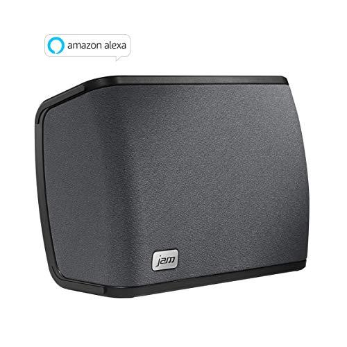 JAM Audio Rhythm kabellose WiFi Lautsprecher, mit Alexa Voice - Einzelnd/ Multiroom, 2.1 Stereo Sound, Höhen- und Bass Anpassungen, Streamen der persönlichen Playlists von Spotify etc. mit der JAM App
