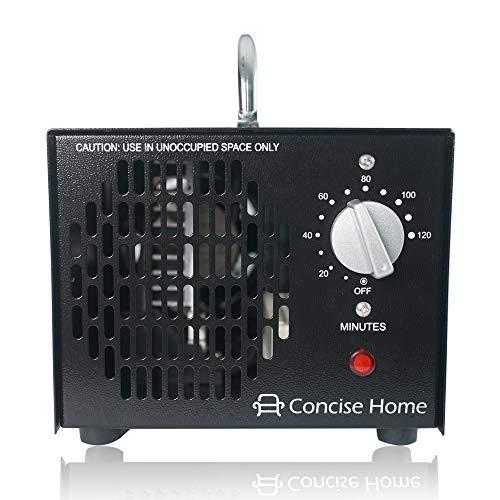 Concise Home Kommerzieller Ozonisator 3500mg 03, industrieller Ozon Luftreiniger, schwarz, Luftverbesserer, Luftsterilisator Ozone Generator