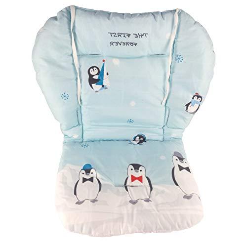 Cuscino per seggiolone, Amcho Passeggino/Seggiolone / Cuscino per seggiolino auto Pellicola protettiva Cuscino per seggiolone traspirante (Pinguino blu)
