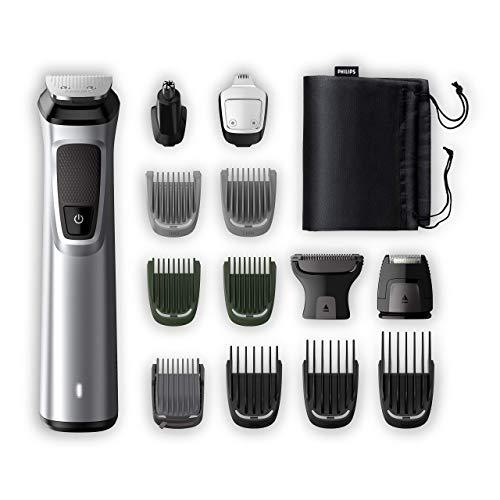 Philips Kit Multifunzione Grooming Kit Serie 7000 Rifinitore premiun 14 in 1, Barba, Capelli e Corpo MG7720/18