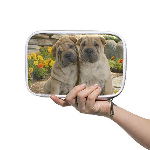 Pochette Due simpatici astucci per cani Pennello per trucco Borse per organizer Astuccio portamatite...