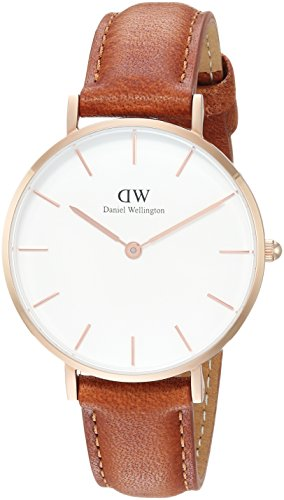 Daniel Wellington Damen Analog Quarz Uhr mit Leder Armband DW00100172